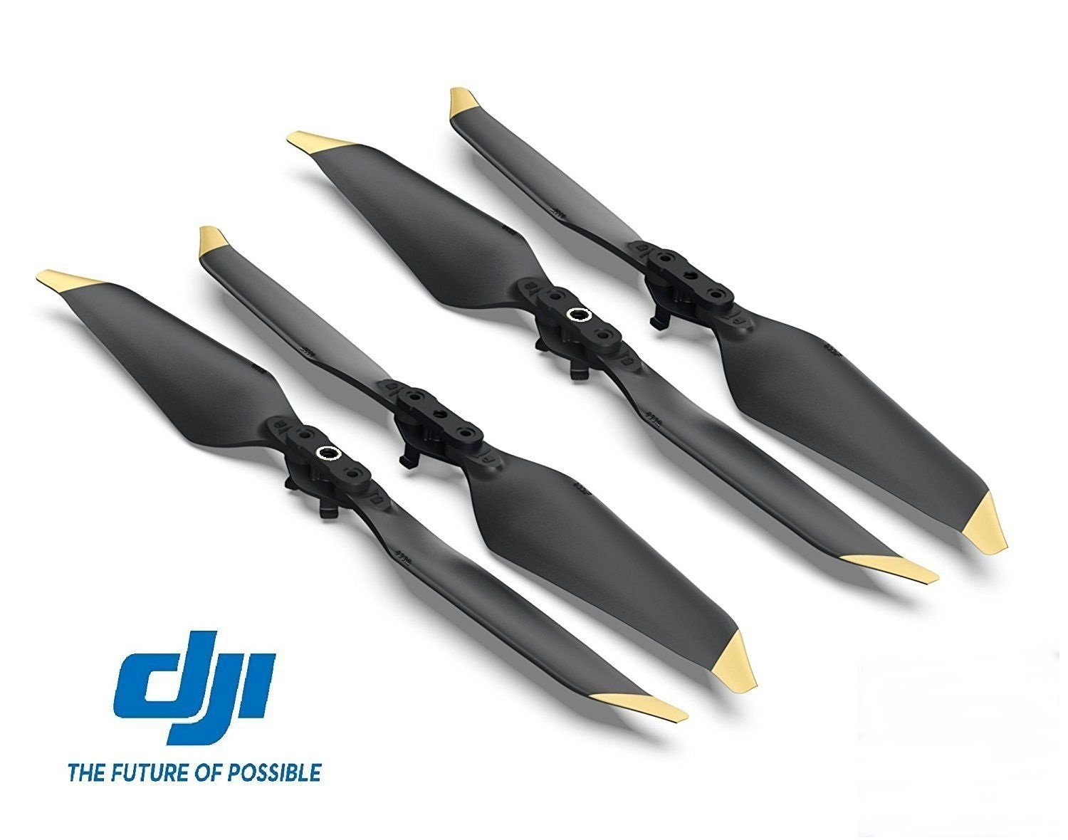 DJI Genuine Low-Noise Quick-Release Propellers for Mavic Pro or Mavic Pro Platinum (Gold), 2 Pairs
