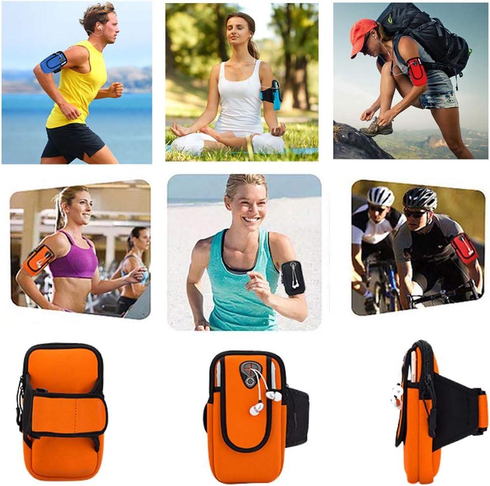 Porta Cellulare Braccio per iPhone 11Pro//11//XS//X FeiLuo Fascia da Braccio Sportiva Portatile di Sport Armband Borsa con Cintura Regolabile e Fessure per Cuffie per Fitness Corsa Jogging Blu