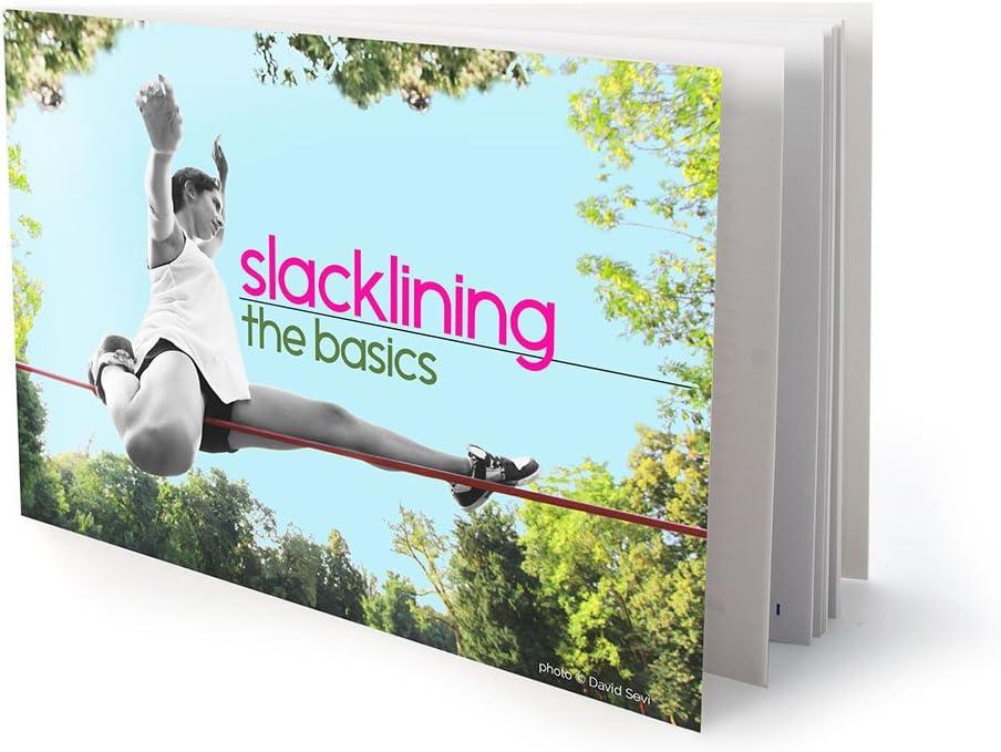 Bark Protectors /& Instructions 15m Barefoot Slacklines 49ft Training Line 3 Fluro Colours Available Great for Kids and Family Line Complete Set Including Slackline Ratchet