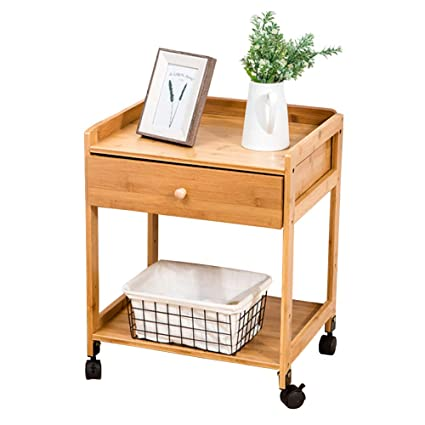 Fabulous Liulife Movable Bedside Table Kitchen Bamboo Storage Trolley Interior Design Ideas Tzicisoteloinfo