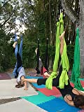 Deluxe Aerial Yoga Hammock (Yoga Swing or Sling, Aerial Yoga) (Lemon Lime)