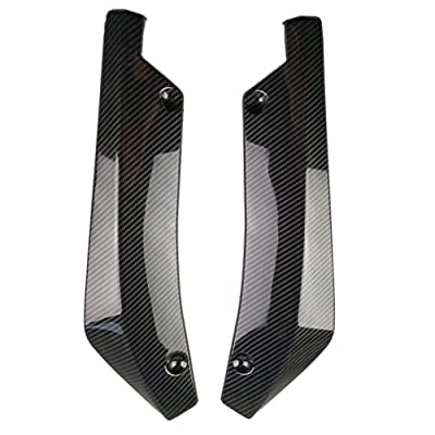 Niome 2Pcs Car Universal Rear Bumper Lip Diffuser Splitter Canard Protector: Automotive [5Bkhe1503342]