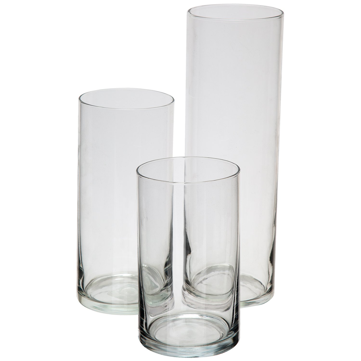 Glass Cylinder Vases SET OF 3 Decorative Centerpieces For Home or ...