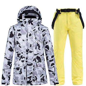 JJHR Trajes de esquí para Ropa de Nieve para Mujer Conjuntos de ...