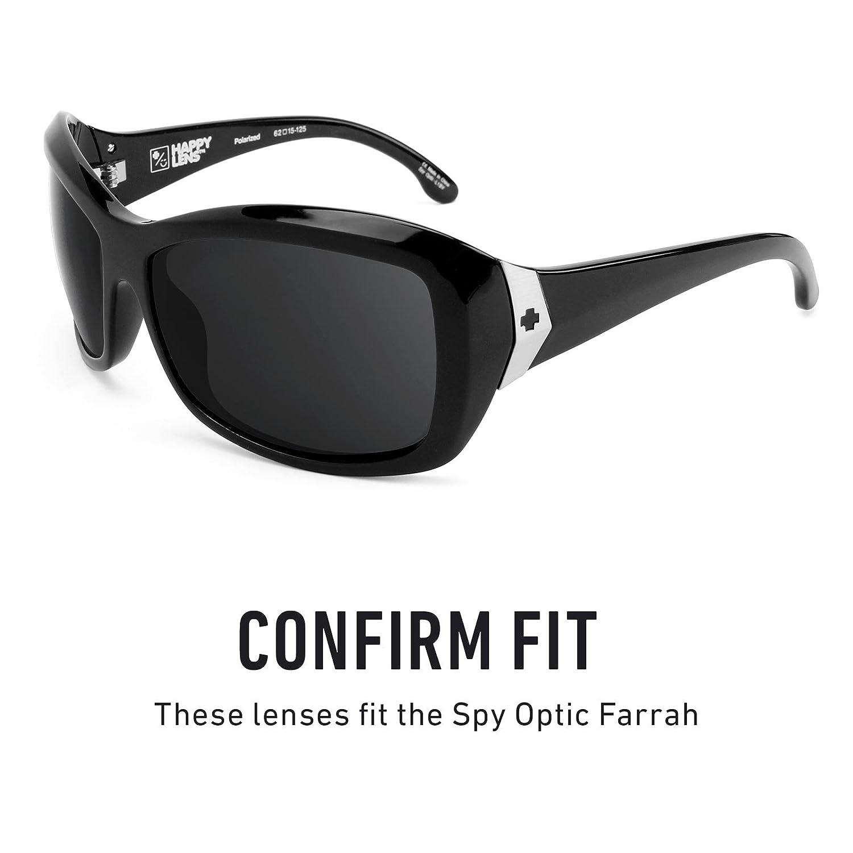 ec634c562f0 Amazon.com  Revant Polarized Replacement Lenses for Spy Optic Farrah Elite  Black Chrome MirrorShield  Sports   Outdoors