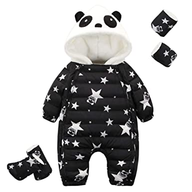 Amazon.com: M&A Newborn Baby Cartoon Panda Winter Down ...
