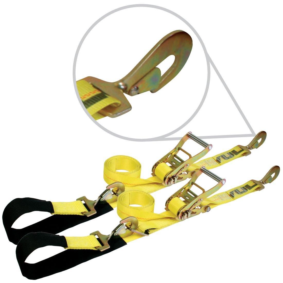 Vulcan Classic Yellow Series 2'' Axle Tie Down Combo Strap Kit