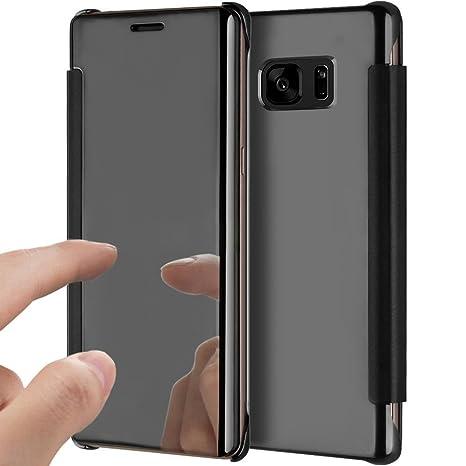 YSIMEE Funda Samsung Galaxy S7 Edge,Carcasa Clear View Cover ...