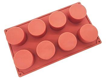 Molde de silicona para mousse, molde de jabón, molde cilíndrico, molde para horno