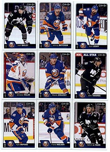 New York Islanders Team Jersey - 2016-17 O-Pee-Chee Hockey New York Islanders Team Set of 19 Cards in Protective Snap Case: Johnny Boychuk(#14), Josh Bailey(#26), John Tavares(#41), Nick Leddy(#62), Marek Zidlicky(#113), Jaroslav Halak(#151), Calvin de Haan(#188), Frans Nielsen(#199), Kyle Okposo(#235), Casey Cizikas(#267), Thomas Hickey(#320), Mikhail Grabovski(#335), Anders Lee(#379), Ryan Strome(#394), Nikolai Kulemin(#420), Cal Clutterbuck(#456), Travis Hamonic(#488), Brock Nelson(#524), Thomas Greiss(#549)