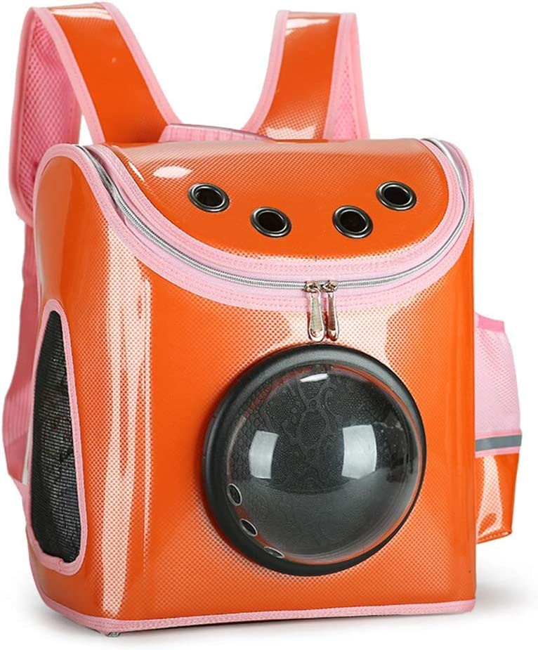 WEHOLYペットバックパック猫バッグアウトペットバッグアウトバッグ猫犬バックパックショルダー折り畳み式テイクアウトキャットケージペットバッグ(色:C)