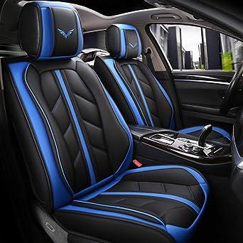 Amazon Com Otoez Car Seat Covers Full Set Universal Auto Front Rear Leather Seat Cover Protector Fit Hyundai Sonata Toyota Rav4 Coralla Camry Honda Accord Vw Passat Jetta Chevy Malibu Automotive