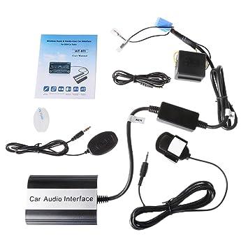 Runrain Mains De Aux Libres Voiture Mp3 Adaptateur Kits Bluetooth vN8wmn0