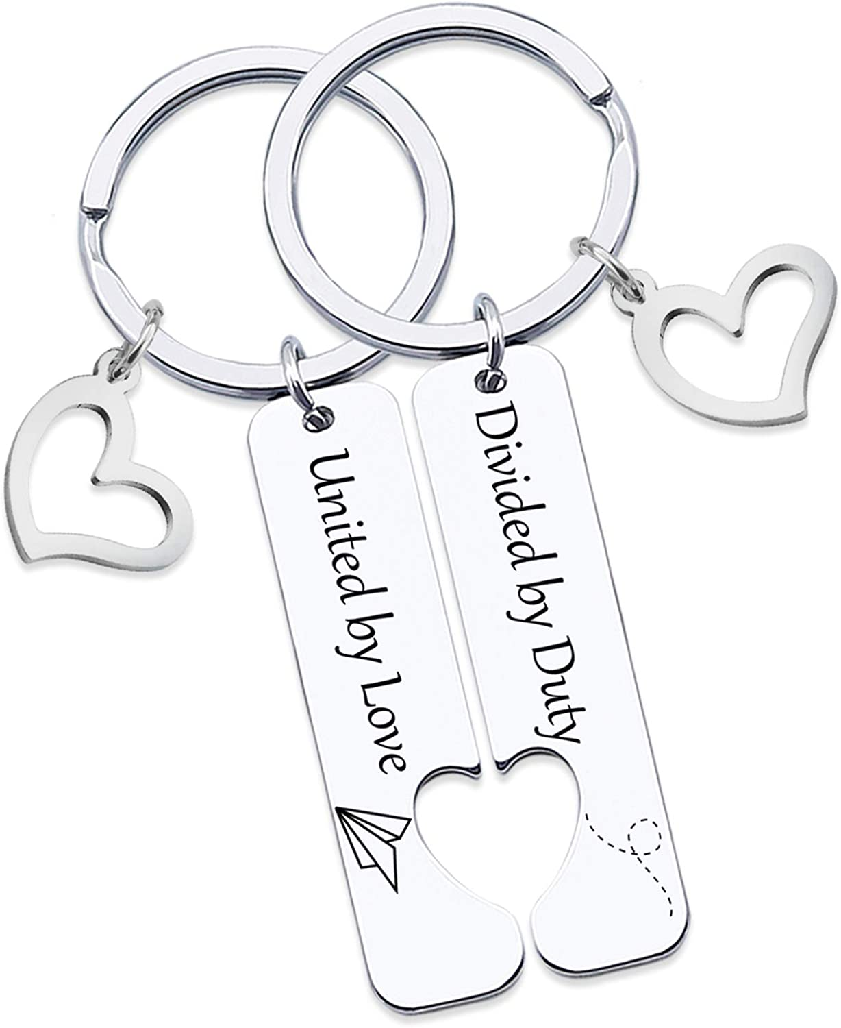 HN HNHB One Day Closer Couple Keychain Wife Girlfriend Gift Long Distance Relationship Gifts
