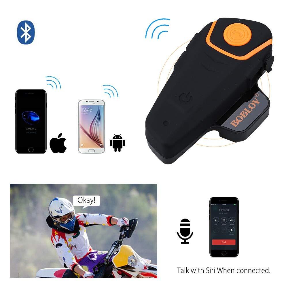 /Auriculares adicionales Boblov BT-S2/Intercomunicador b-Tooth Intercom Moto Motociclismo aud/ífono b-Tooth Moto intercomunicador etanche BT 1000/m FM Radio/ /Juego de 2/con 2/