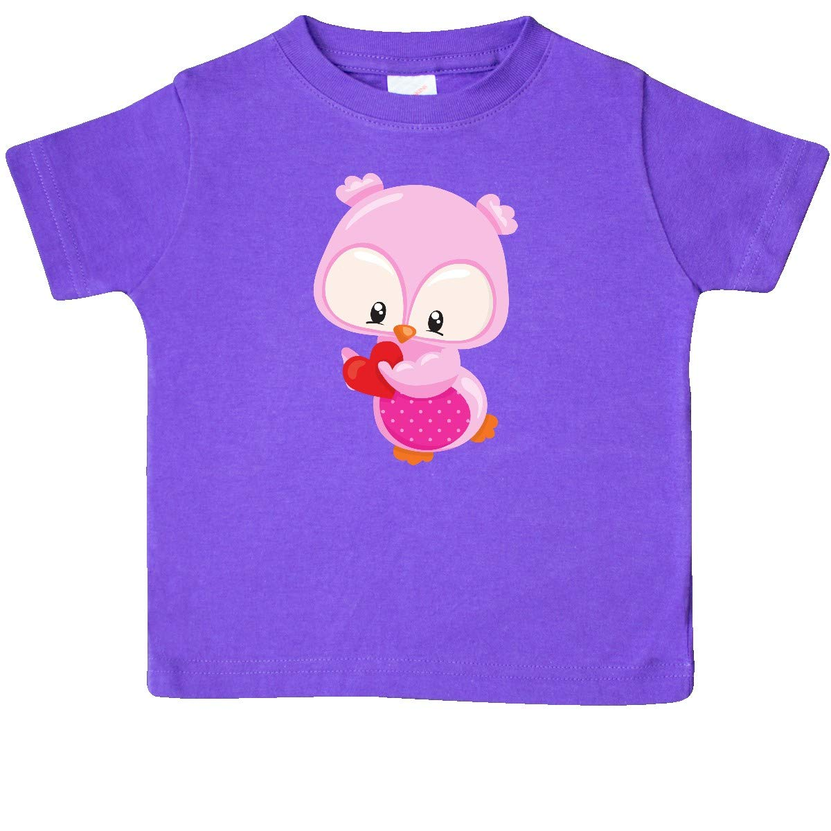 Pink Owl inktastic Cute Owl Holding a Heart Owl Love Baby T-Shirt