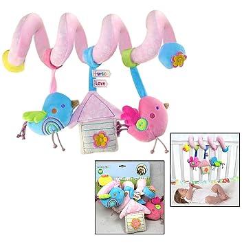 Xrten Juguetes Espiral Actividades Colgante Animales para Cuna Cochecito Carrito bebés niños: Amazon.es: Electrónica