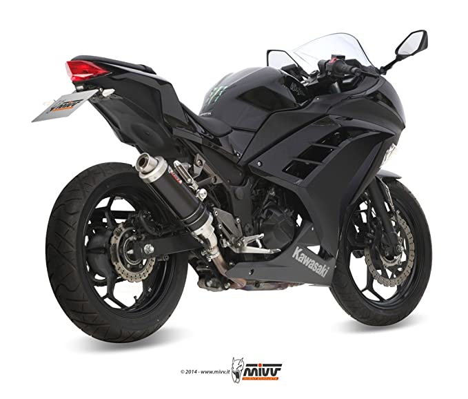 KAWASAKI NINJA 300 2015 MIVV ESCAPES GP BLACK NEGRO: Amazon ...