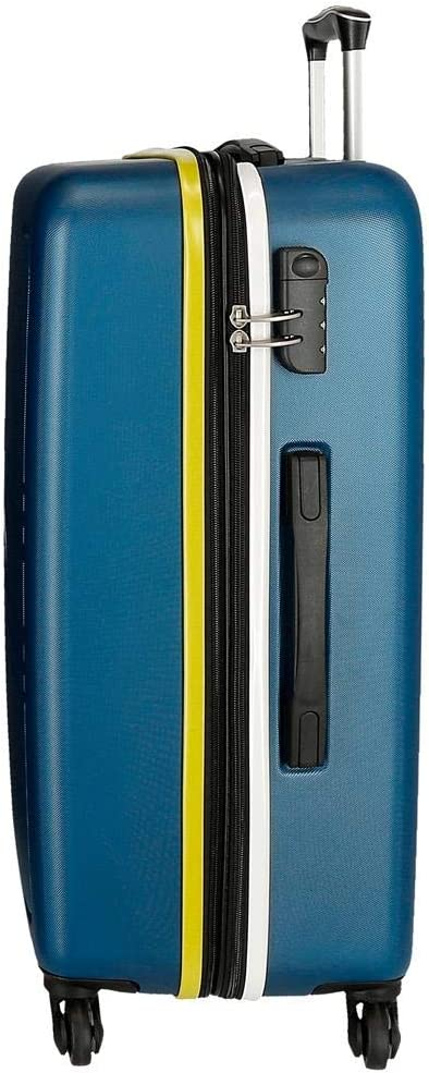 Movom Flash Maleta Mediana Azul 48x69x28 cms R/ígida ABS Cierre combinaci/ón 80L 3,7Kgs 4 Ruedas Extensible