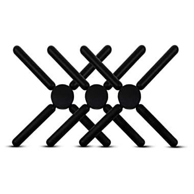 Set of 3-8.75  Folding Trivet - Nylon Coated, Protect Counter/Table From Hot Pans #RM4288
