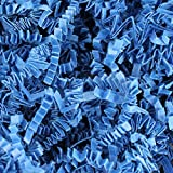 1/2 LB Royal Blue Crinkle Shred Gift Basket Shred Crinkle Paper Filler Bedding by COTU (8 oz)
