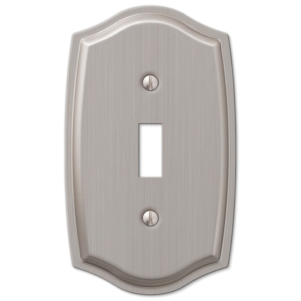 Double 2 Toggle Switch Wall Plate Cover - Brushed Nickel - - Amazon.com