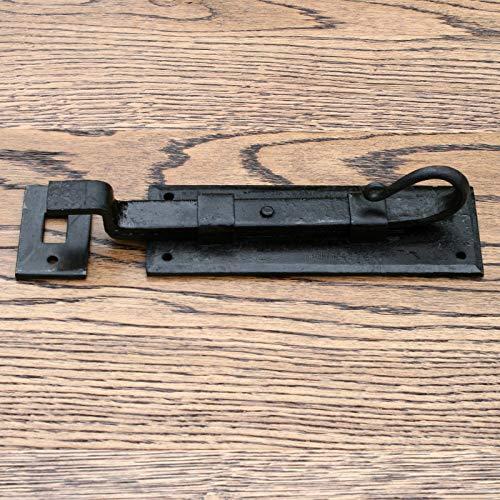 (Antique Old Compatible for Vintage Black Door Bolt, Antique, 8 Types (Rat Tail cranked 6