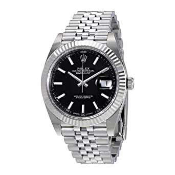 Amazon Com Rolex Oyster Perpetual Datejust Black Dial Jubilee Mens