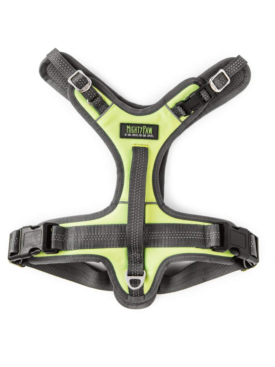 Mighty Paw Sport Harness 2.0, Padded Dog Harness, Adjustable Neck and Chest Straps with Reflective Stitching (Large, Green) by Mighty Paw