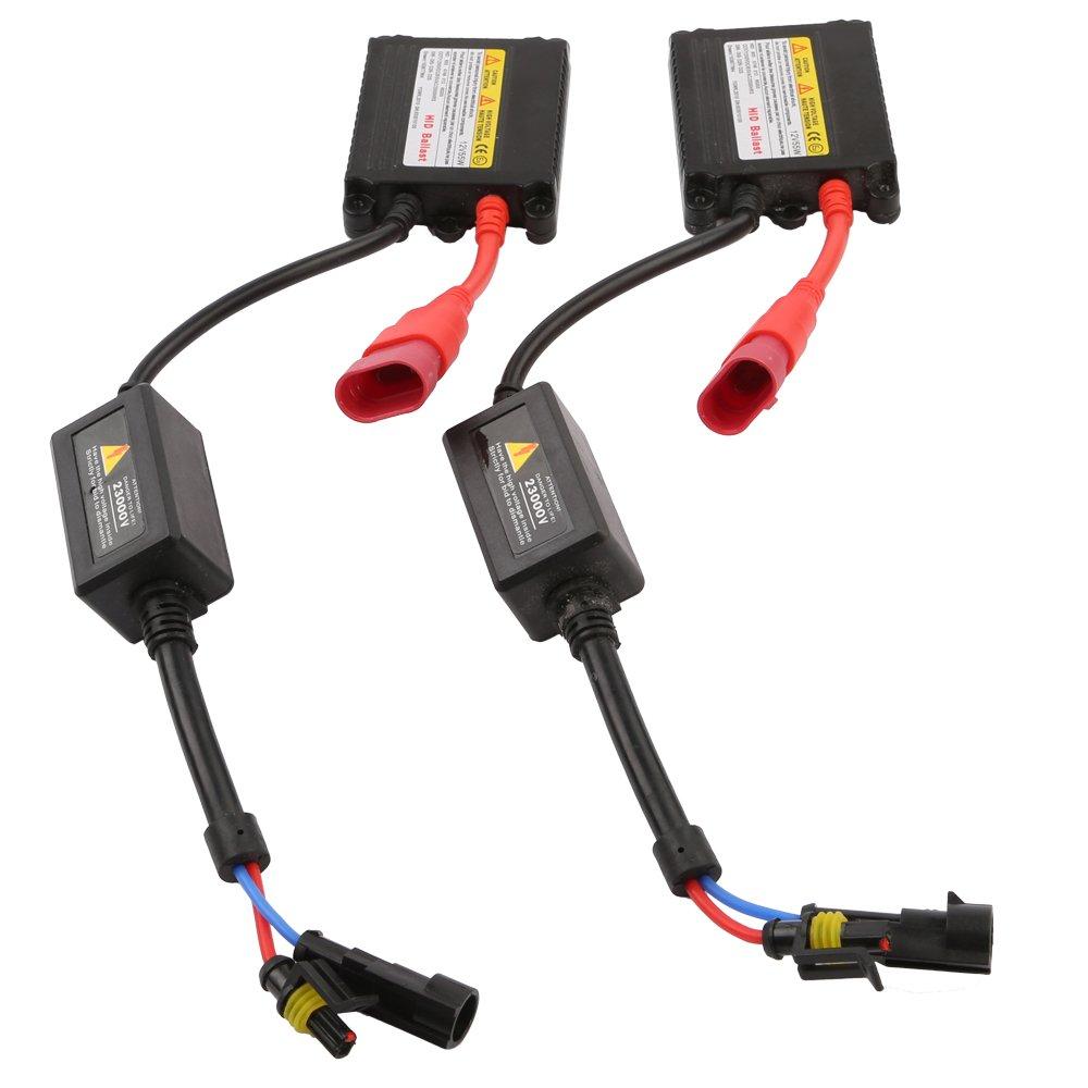 Hi//Lo Scheinwerfer HID Kit Leuchte Xenon mit Ballast Lichtfarbe: 8000K OSAN Auto//Motorrad H4 H4-3