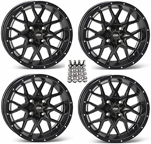 ITP Hurricane ATV Wheels//Rims Matte Black 17 Sportsman RZR Ranger