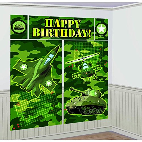 Army Party Supplies (Adventurous Camouflage Pull Back Tanks and Jets Birthday Party Favours, 3 1/2