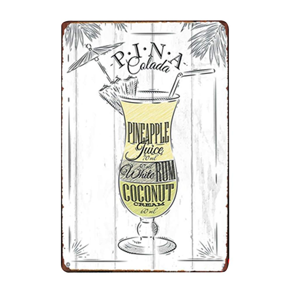 20 x 30 cm Bahama Mama Lumanuby 1 Cartel de Pared Vintage para Bar Pub Restaurante de Nombre del Otro c/óctel y tu f/órmula de Metal Cartel para Todas Las Estaciones Serie de Refranes de Bar Metal