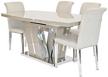 Febland Mesa de Comedor Extensible con 6 sillas de Comedor ...