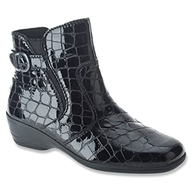 Spring Step Womens Black Boot Boots Jacey Ii Ankle Croco