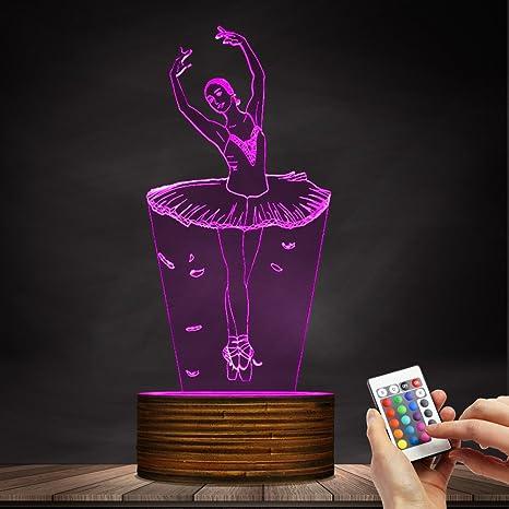 941a1bfba52 Ballerina LED Night Light Ballet Dancer USB Glowing Night Lamp Girls Room  Decorative Table Light Ballet