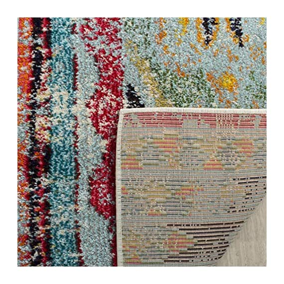 """Safavieh Monaco Collection MNC222F Modern Bohemian Distressed Runner, 2' 2"""" x 8', Multicolor - Safavieh's Monaco Modern Bohemian Rug with 1,000+ customer reviews Free spirited design adds a modern to touch to the living room, dining room, bedroom, foyer, or playroom Refined power loomed construction and enhanced polypropylene fibers ensure an easy care and virtually non shedding rug - runner-rugs, entryway-furniture-decor, entryway-laundry-room - 61Wu9RHcvkL. SS570  -"""