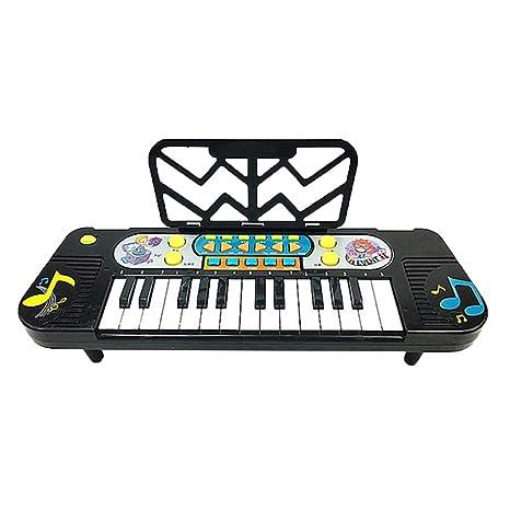 perfk Piano Digital Pizarra Electrónica 25 Teclas con Pie ...