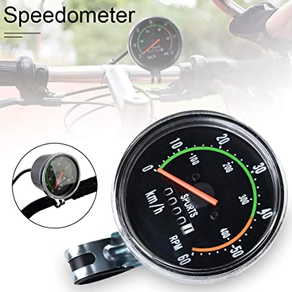 Bicycle Bike Analog Speedometer Odometer Cycling Distance Speed Meter Waterproof