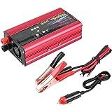 Aramox 電力変換器、1500ワット車のインバーター車の電源インバーター充電器コンバータアダプタusbプラグポート変更正弦波dc 12ボルト24ボルトにac 220ボルト