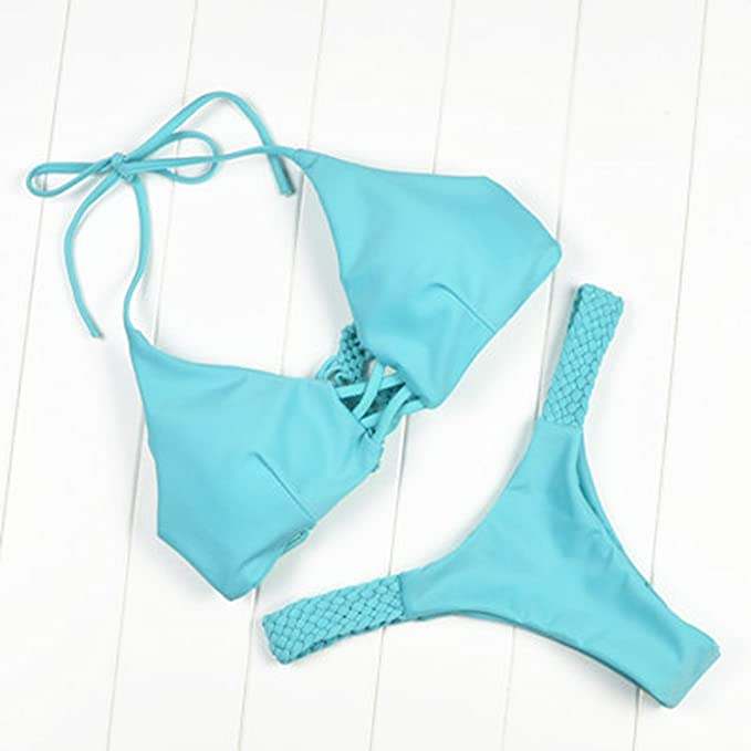946f1b807c Amazon.com: Women Bikini Set Swimsuit Brazilian Sexy Mini Bandage ...