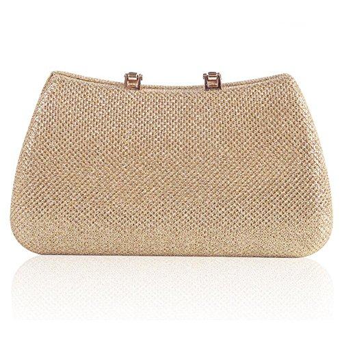 Wedding Cosmetic £¨18 gold NVBAO Evening Rhinestone Prom Clutch£¬ Mini 10cm£© X Bridal Womens Bag Handbag FFIP1q0