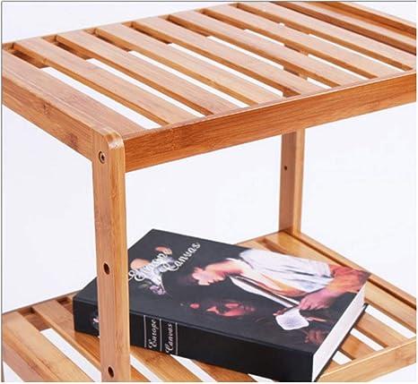 LCTZWJ Estantes de bambú, Estante para baño, estantería Independiente, estantes de Almacenamiento de Madera, marrón Natural (Tamaño : B): Amazon.es: Hogar