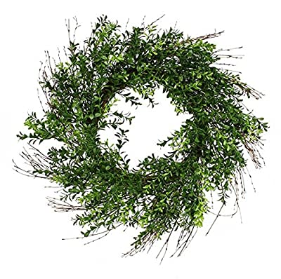 artificial boxwood wreath 25''