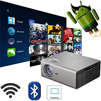 Link Co WiFi Inteligente Proyector 1920 * 1080p Video HD Proyector ...