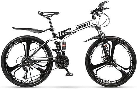 Bicicleta de montaña Bicicleta de carretera resistente Bicicleta de pista urbana plegable de 24 velocidades Cambio de 24 pulgadas Estudiantes masculinos y femeninos Amortiguador de doble amortigua: Amazon.es: Deportes y aire libre