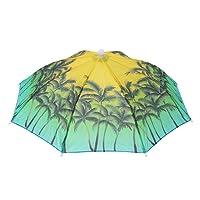 Demiawaking Ladies Mens Adult Kids Umbrella Hat Adjustable Foldable Headband Sun Rain Umbrella Hat Cap for Outdoor Camping Fishing