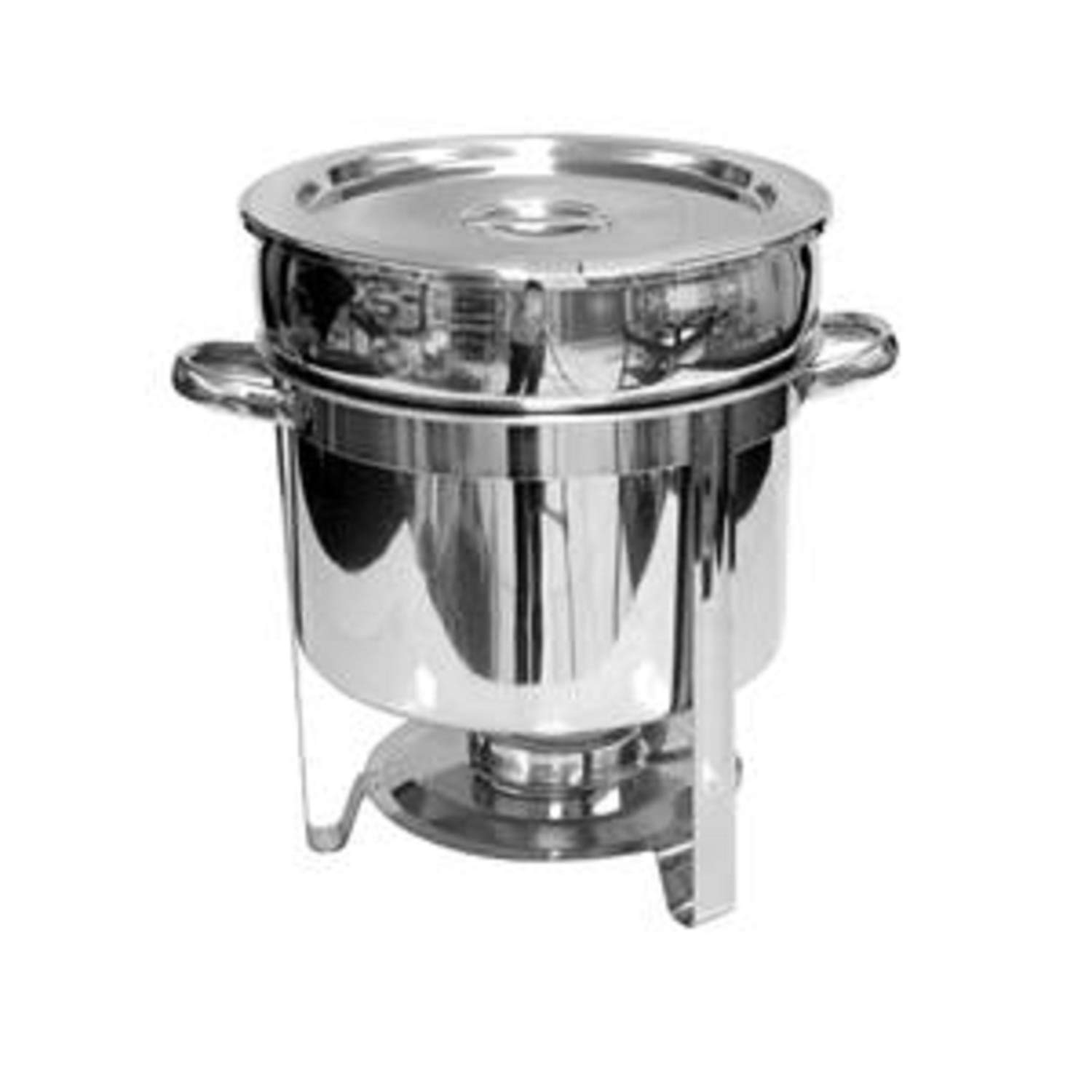 Tiger Chef 11 Qt. Soup Chafer Stainless Steel Chafing Dishes Marmite Chafer Hot Water Soup Food Warmer Chafing Dish Buffet Set Soup Warmers For Parties Commercial Grade Soup Kettle Soup Chafing Dish