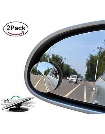nero, accessorio esterno KIMISS Specchietto retrovisore cieco per auto grandangolare specchietto retrovisore convesso tondo regolabile in vetro HD da 360 gradi