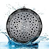 Splashproof Shower Speaker Outdoor Wireless Portable Waterproof IPX6 Bluetooth Speaker With Suction Cup and Hanging Loop -Black